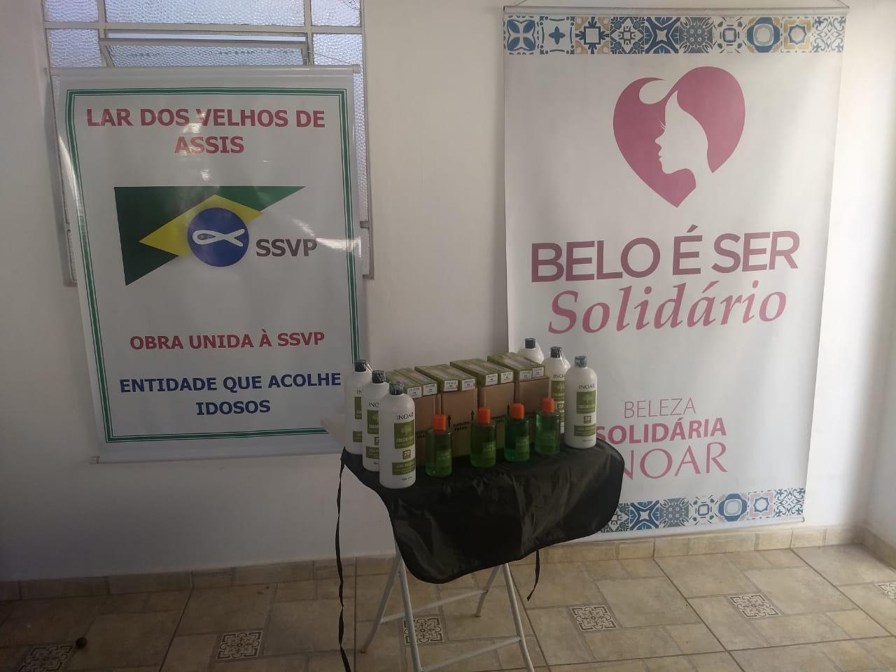 Beleza Solidária realiza doações a lar de idosos